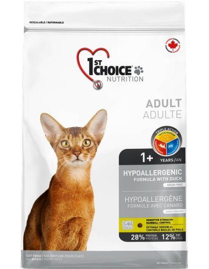 HYPOALLERGENIC гипоаллергенный для взрослых кошек от 1 года и старше утка