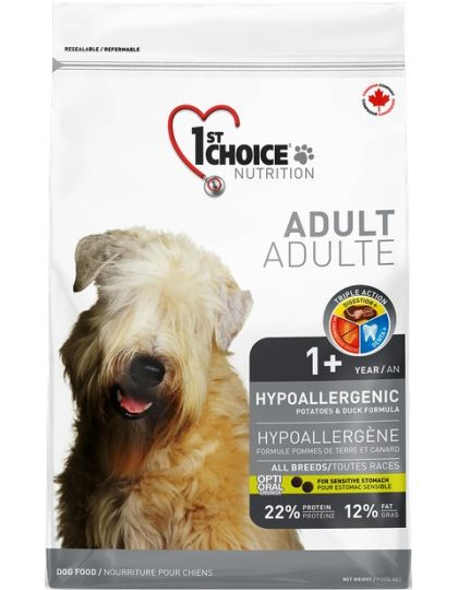 Гипоаллергенный для собак всех пород, утка/картофель
