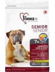 Для пожилых собак с чувствительной кожей и шерстью (ягненок, рыба, рис)