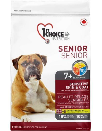 Для пожилых собак с чувствительной кожей и шерстью (ягненок, рыба, рис
