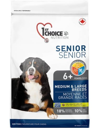 Для пожилых или малоактивных собак средних и крупных пород, курица