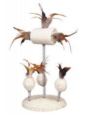 Игрушка для кошки, сизаль/перья