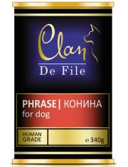 De File консервы для собак с кониной