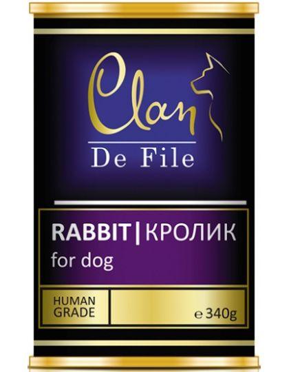 De File консервы для собак c кроликом