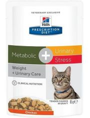 Prescription Diet Metabolic + Urinary Stress Feline с курицей