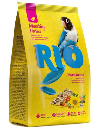 Корм для средних попугаев  рацион в период линьки