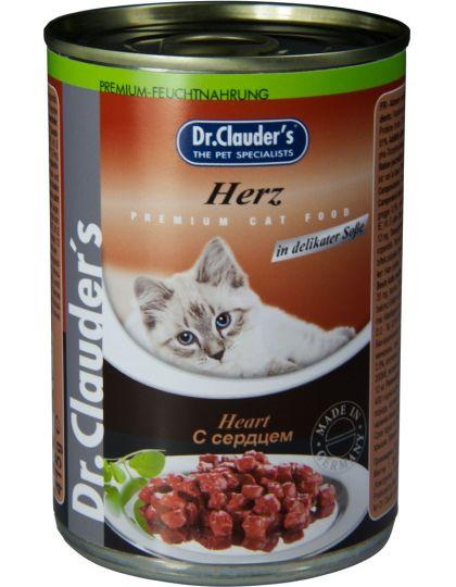 Консервы для кошек кусочки в соусе, сердце