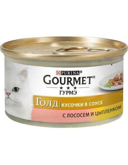 Gold кусочки в соусе с лососем и цыпленком