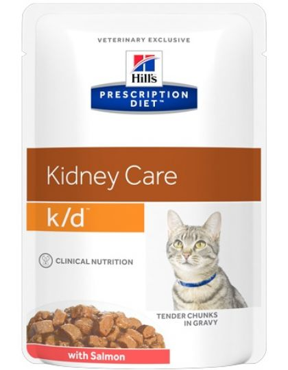 Prescription Diet Feline k/d для поддержания здоровья почек с лососем