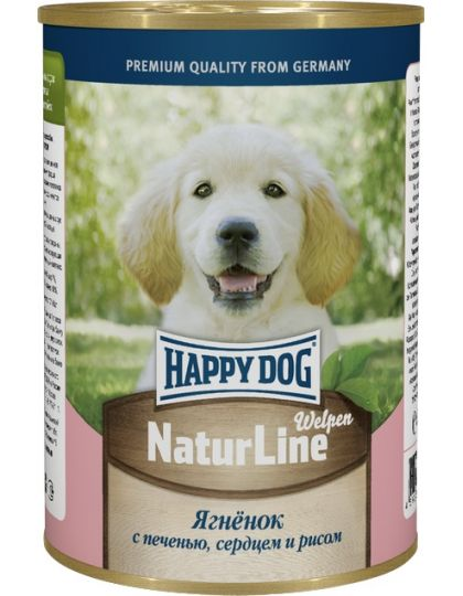 Natur Line для щенков ягненок с печенью, сердцем и рисом