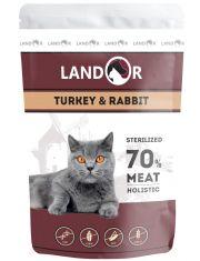 Sterilized полноценный сбалансированный влажный корм для стерилизованных взрослых кошек индейка с кроликом