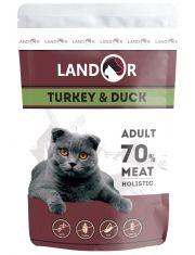 Adult полноценный сбалансированный влажный корм для взрослых кошек индейка с уткой