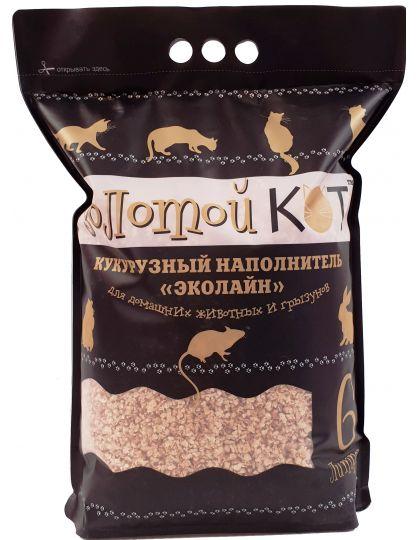 Кукурузный наполнитель эколайн для туалета домашних животных
