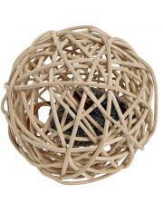 Шар плетеный с чиповым звуком игрушка для кошек