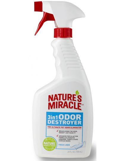 Уничтожитель запахов 3 в 1 с ароматом свежего белья