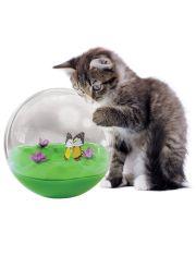 Интерактивная игрушка для кошек неваляшка-шар с бабочкой