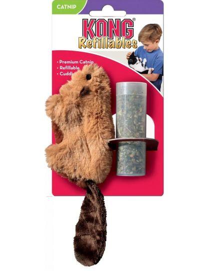 Бобер игрушка для кошек, плюш, кошачья мята