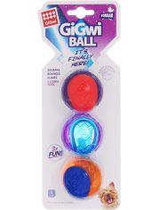 Три мяча с пищалкой игрушка для собак