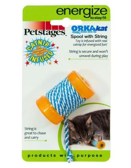 Игрушка для кошек Orka Катушка с веревочкой