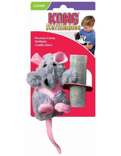 Игрушка для кошек Крыса с тубом кошачьей мяты