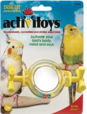 Вращающееся зеркальце - погремушка для птиц