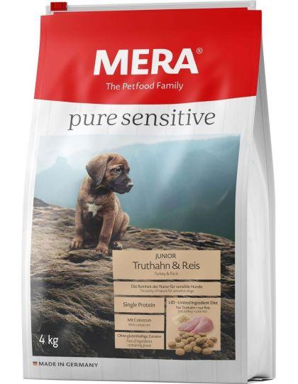 Mera Pure Sensitive Junior Truthahn&Reis беззерновой корм для щенков и юниоров с индейкой и рисом