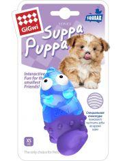Лиса с пищалкой игрушка для собак