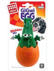 Крокодил в яйце с пищалкой игрушка для собак
