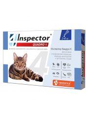 INSPECTOR Quadro капли для кошек от 1 до 4 кг от внешних и внутренних паразитов