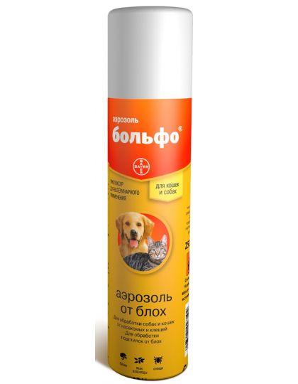 Аэрозоль Больфо® от блох и клещей для собак и кошек