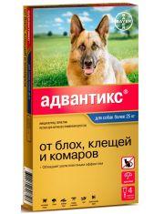 Капли на холку Адвантикс® от клещей, блох и комаров для собак более 25 кг
