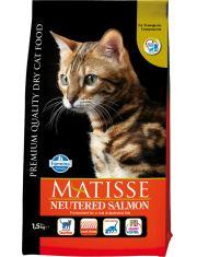 Matisse для стерилизованных кошек и кастрированных котов, с лососем