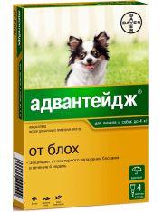 Капли на холку Адвантейдж®  от блох для щенков и собак до 4 кг