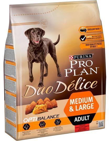 Duo Delice Medium & Large для взрослых собак средних и крупных пород говядина с рисом