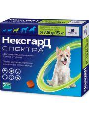 НексгарД Спектра M – жевательная таблетка от клещей, гельминтов и блох для собак весом 7,5-15 кг