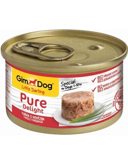 GimDog Pure Delight консервы для собак из тунца с говядиной