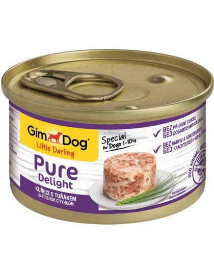 GimDog Pure Delight консервы для собак из цыпленка с тунцом
