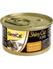 GimCat ShinyCat консервы для кошек из тунца с цыпленком