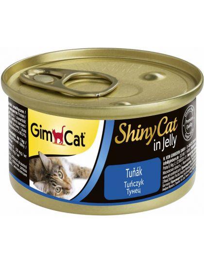 GimCat ShinyCat консервы для кошек из тунца