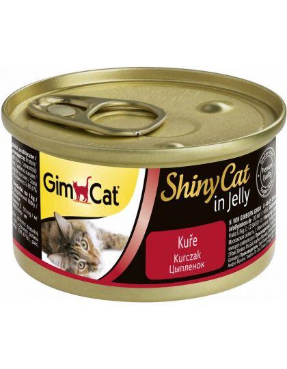 GimCat ShinyCat консервы для кошек из цыпленка