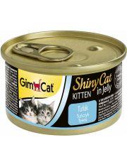 GimCat ShinyCat консервы для котят из тунца