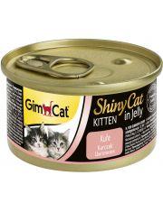 GimCat ShinyCat консервы для котят из цыпленка