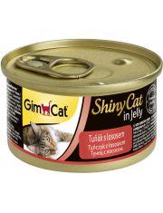 GimCat ShinyCat консервы для кошек из тунца с лососем
