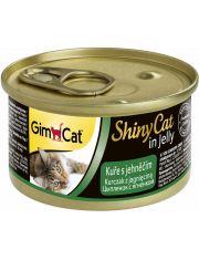 GimCat ShinyCat консервы для кошек из цыпленка с ягненком