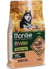 BWild GRAIN FREE беззерновой корм из лосося и гороха для взрослых собак всех пород