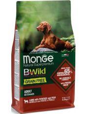 BWild GRAIN FREE беззерновой корм из мяса ягненка с картофелем и горохом для взрослых собак всех пород