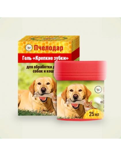Гель крепкие зубки для обработки десен собак и кошек