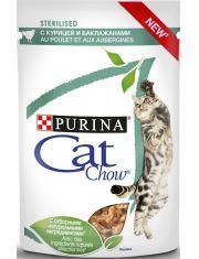 Adult Cat Sterelised паучи с курицей и баклажанами кусочки в соусе для стерилизованных кошек