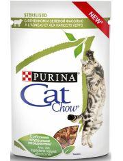 Adult Cat Sterelised паучи с ягненком и зеленой фасолью кусочки в соусе для стерилизованных кошек
