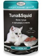 Филе тунца и кальмары в желе